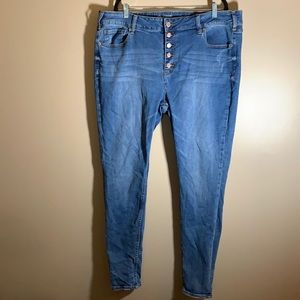Warehouse One High Rise Skinny Jeans